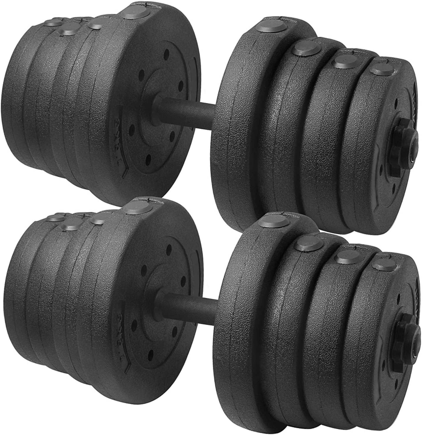 Dumbbells Weight set  plates 30 kg adjustable  Weight lifting training Home