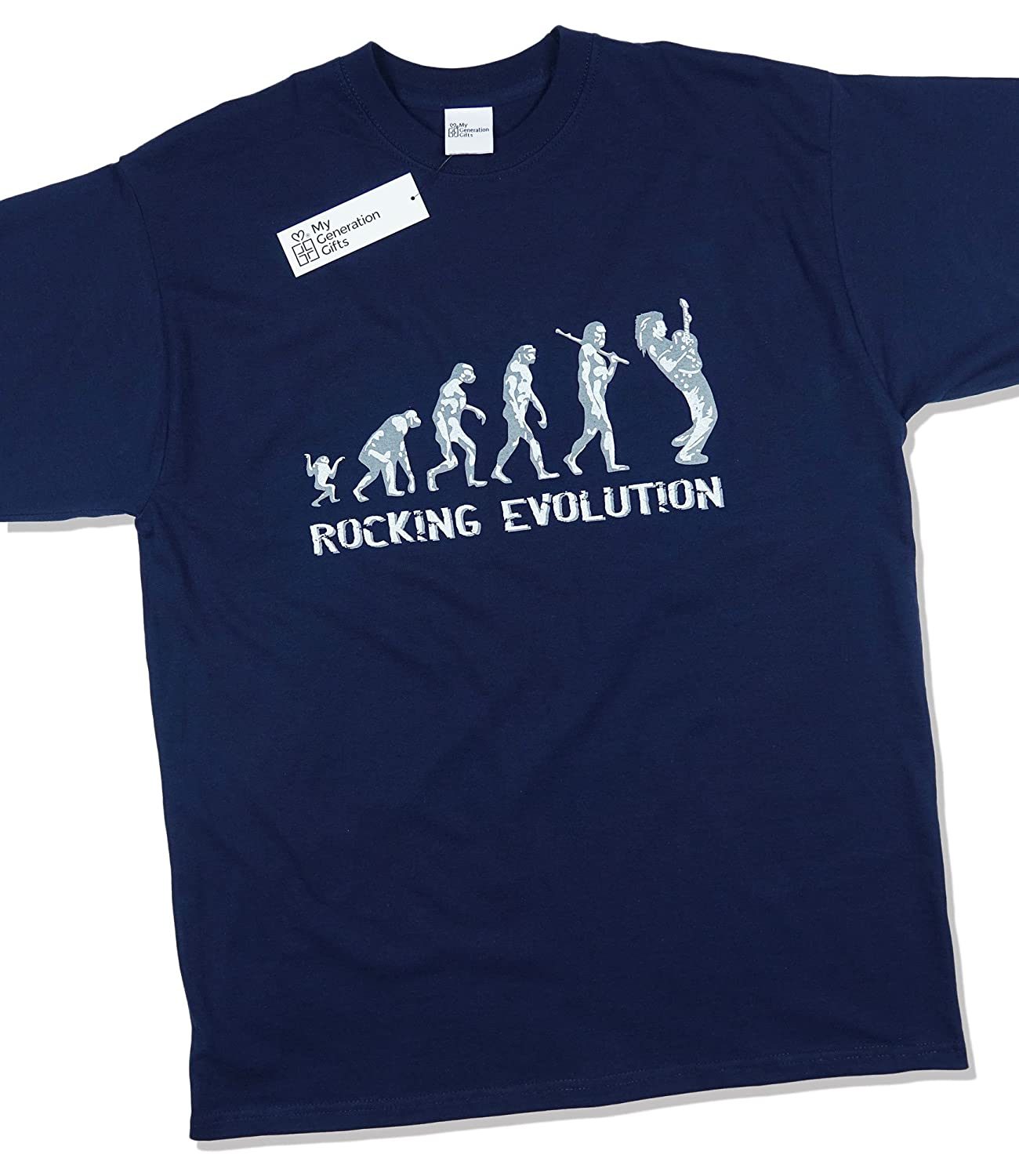 Rocking Guitar Player Evolution - Funny Music Guitar Band Gift Mens T-Shirt:  Amazon.co.uk: Clothing