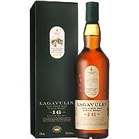 Lagavulin 16 Year Old Scotch Whisky Single Malt – Whisky Scozzese Puro Malto dell'isola di Islay invecchiato 16 anni – 1 x 70 cl