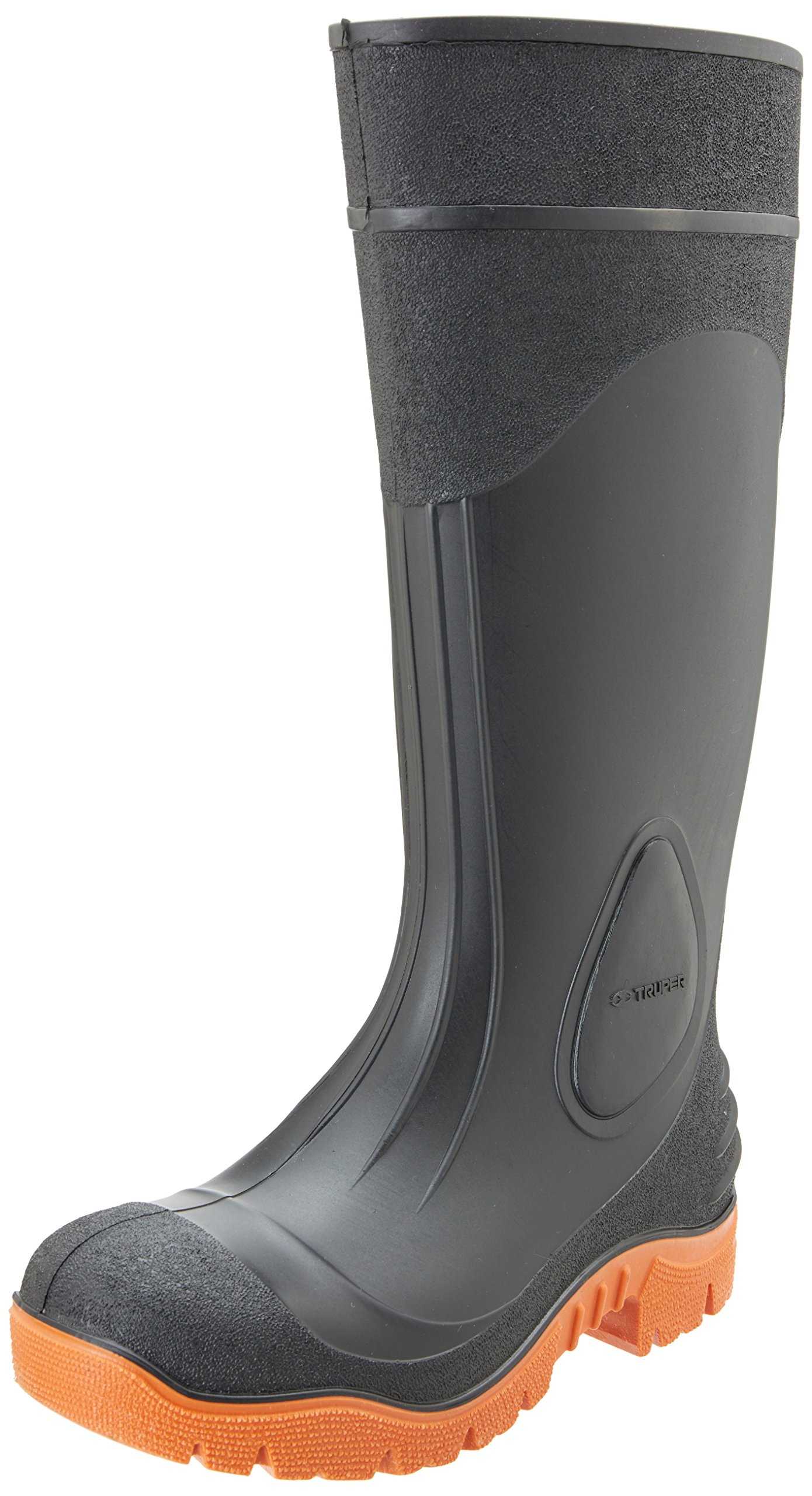 TRUPER BOT-26I Black Rubber Work Boots. Size 8