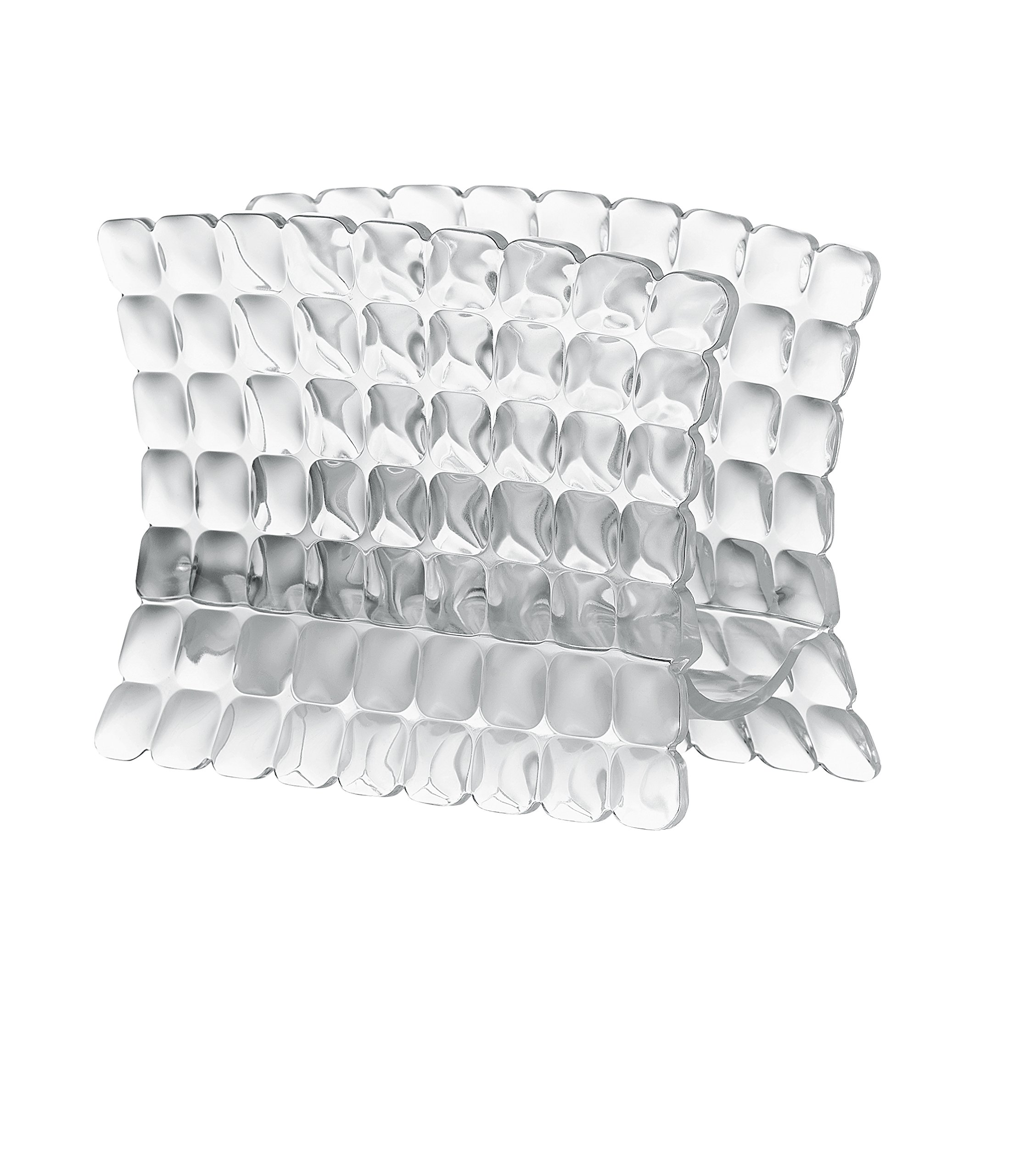 Guzzini Tiffany Collection Table Napkin Holder, Durable BPA-Free Acrylic Looks Like Crystal, 6'' x 3'' x 4-1/4, Transparent