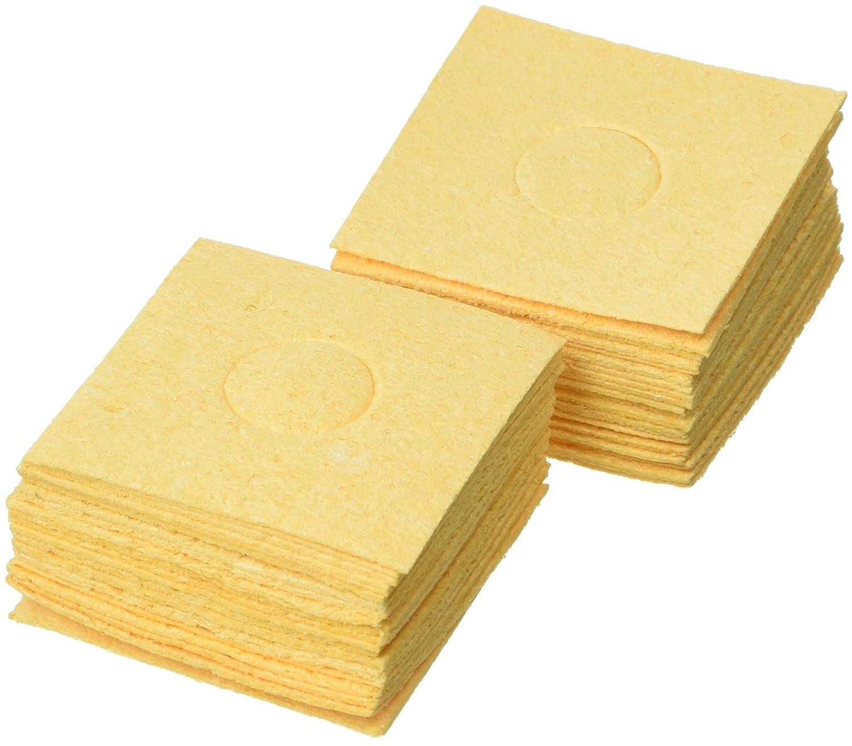 50pcs 60mm x 60mm x 1.2mm fer à souder à souder éponge Jaune Sourcingmap a12060600ux0032