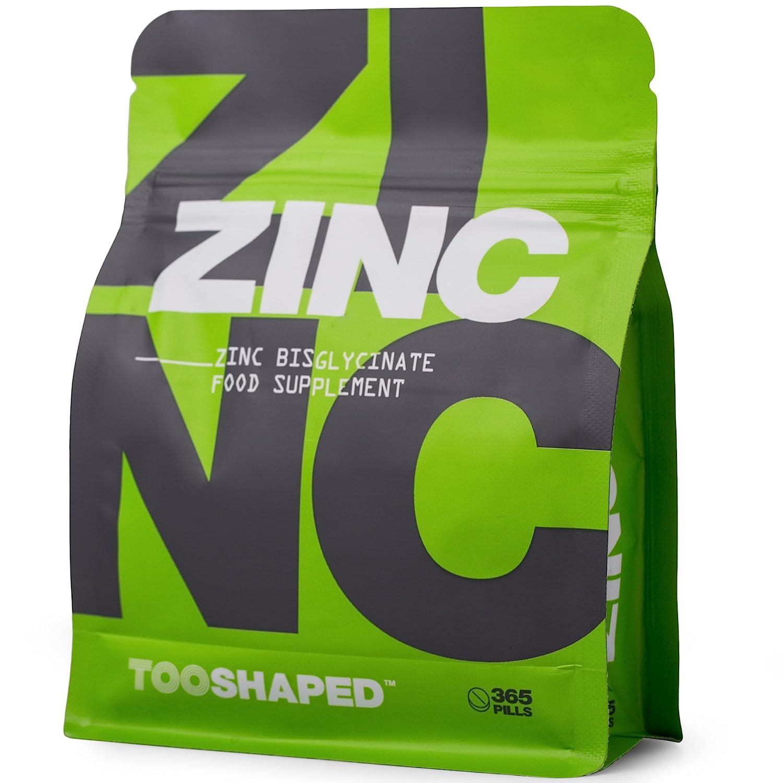 Comprimidos de zinc (bisglicinato). 25 mg (dosis alta). Máxima biodisponibilidad. 365 comprimidos veganos, suministro para un año de TOOSHAPED: Amazon.es: ...