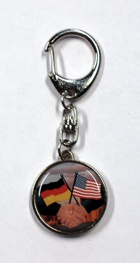 Llavero metal banderas Alemania/USA 95 x 35 mm motivo de ...