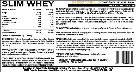 Proteína Slim Whey en Polvo. Batidos de Recuperación Bajos en ...