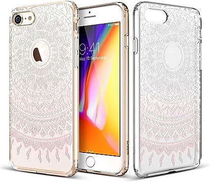 ESR Coque iPhone 8 Mandala, Coque Silicone Transparente Motif ...