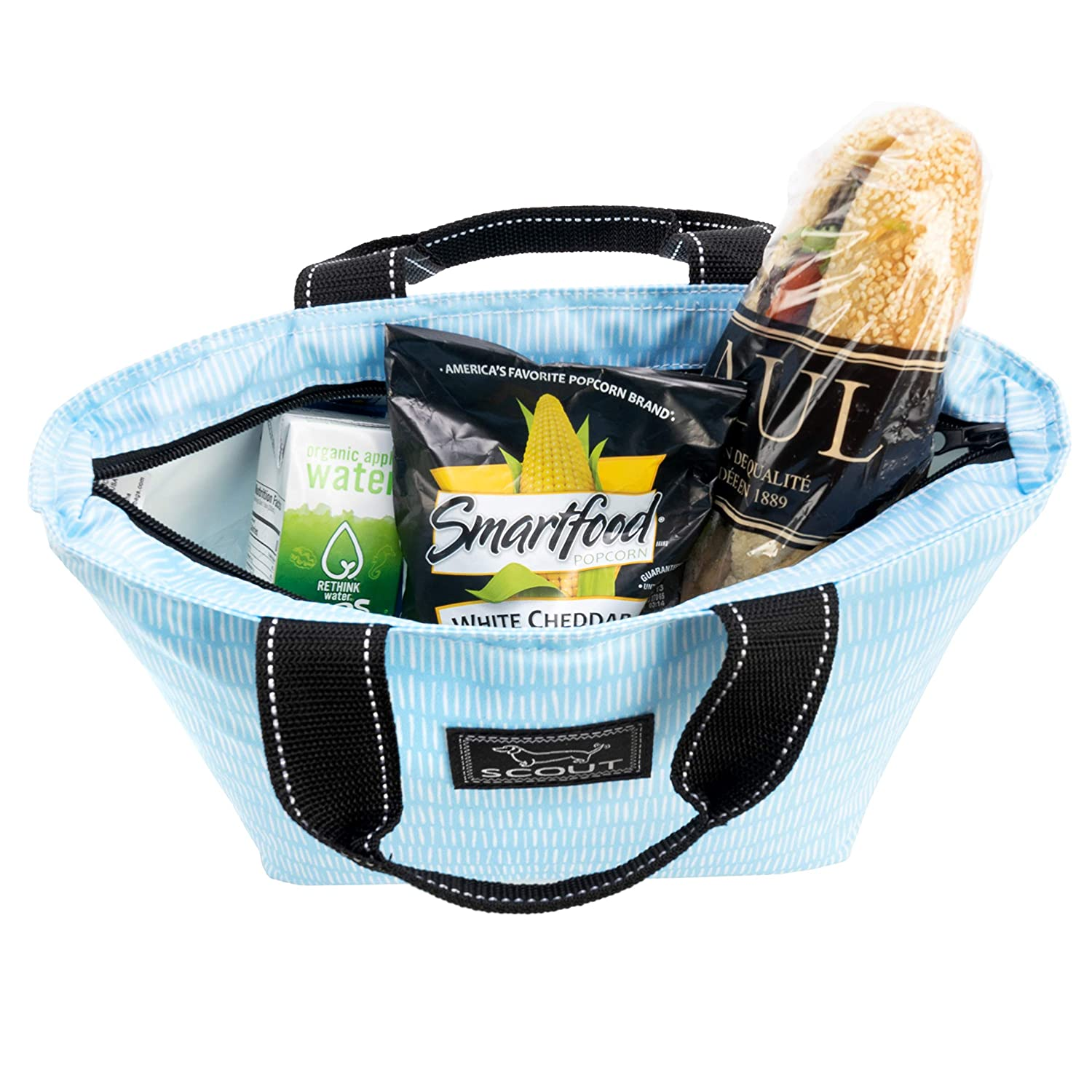 Water Resistant Zips Closed Heat-sealed SCOUT Nooner Insulated Lunch Box or Soft Cooler With Pockets PVC-free Liner