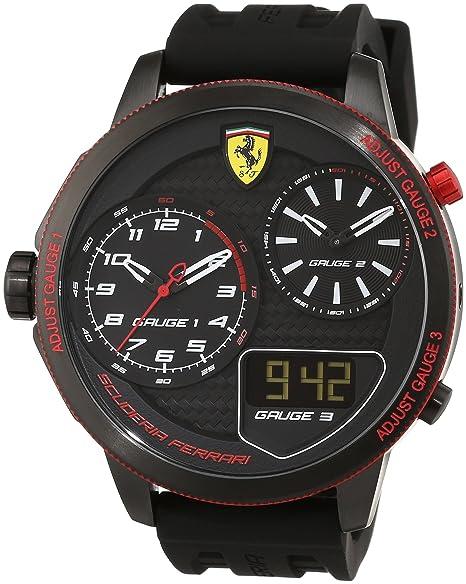Scuderia Ferrari Orologi Red Rev 0830318 - Reloj de Pulsera de Caballero, analógico, Mecanismo
