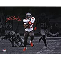 "$109 » Ronald Jones Tampa Bay Buccaneers Autographed 11"" x 14"" 98-Yard Touchdown Run Spotlight Photograph - Autographed NFL Photos"