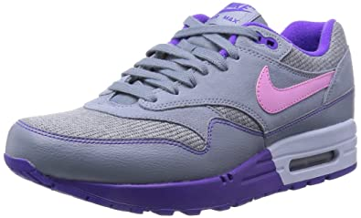 the best attitude aaa68 ef9a5 NIKE Air Max 1 Magnet Grey Hyper Grape (319986-028) womens Shoes
