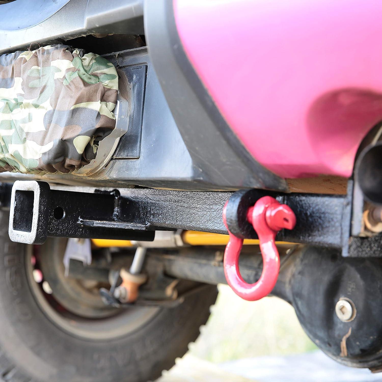 Bosmutus Trailer Hitch,Off Road 4WD Receiver Rear Bumper Tow Kit for 1998-2018 S-uzuki J-IMNY JB33//JB43//JB23 【Steel+rustproof】