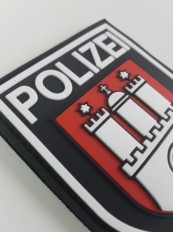ATG /Ärmelabzeichen Polizei Hamburg 3 D Rubber Patch Farbig