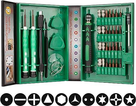 Smraza 38 en 1 Juego Destornilladores de Precision Magnético Kit ...