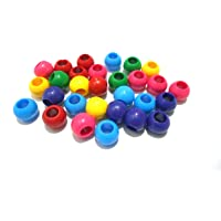 AM 10 mm Plastic Round Beads for Jewellery Making/Wrapping/Crafts (Multicolour)
