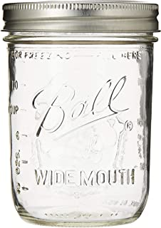 """product image for Ball Mason """"PINT"""" Jars Wide-Mouth Can or Freeze - 12pk (by Jarden Home Brands) WM 16 Oz"""