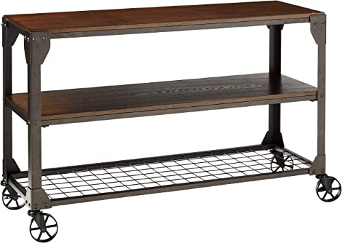 Furniture of America Kastas Sofa Table, Black