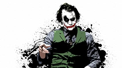 Amazon com: Batman The Joker Heath Ledger Comic Movie Canvas