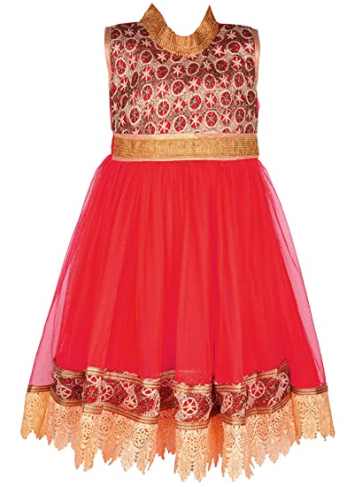 484797f988 Wish Karo Baby Girls Long Frock Party Wear Dress DN LF61RD  Amazon ...