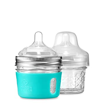 Amazon Com 4 Oz Mason Bottle Diy Kit Bpa Free Glass Baby Bottles