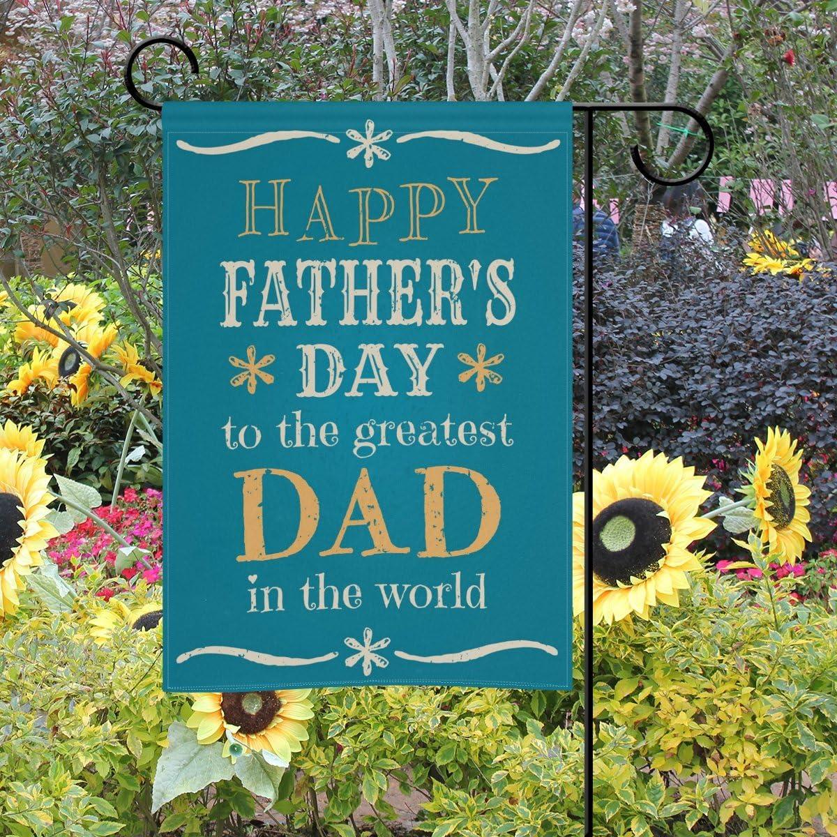mydaily feliz día del padre decorativo doble cara bandera de ...