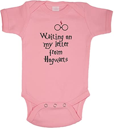 716a3cba89a Waiting On My Letter From Hogwarts Funny Harry Potter Romper Wizard Onesie  by BeeGeeTees (New