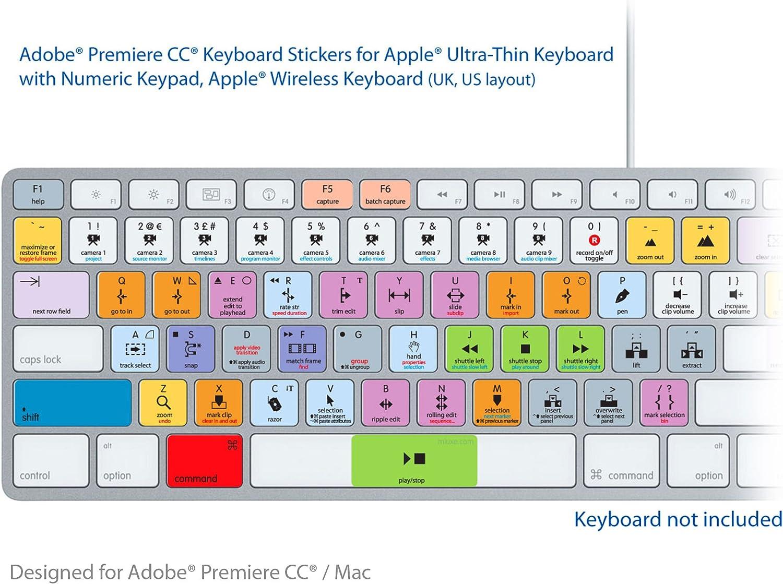 Adobe Premiere CC de teclado y apto pegatinas etiquetas ...