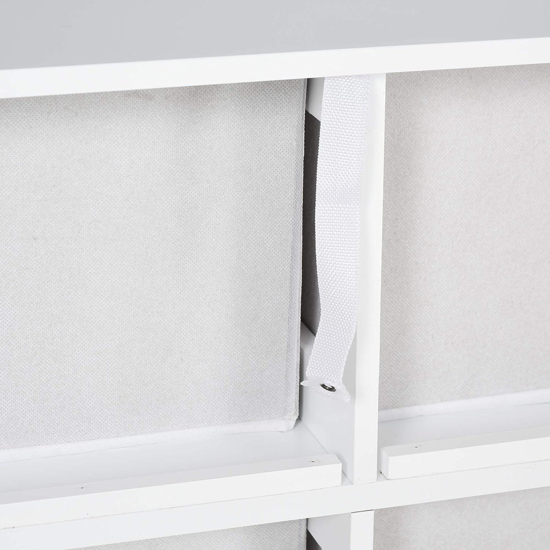 HOMCOM Armario de Almacenje Organizador de 6 Cajones con Marco X en Ambos Lados Dise/ño Simple Ligero 64,5x37,5x76 cm Blanco