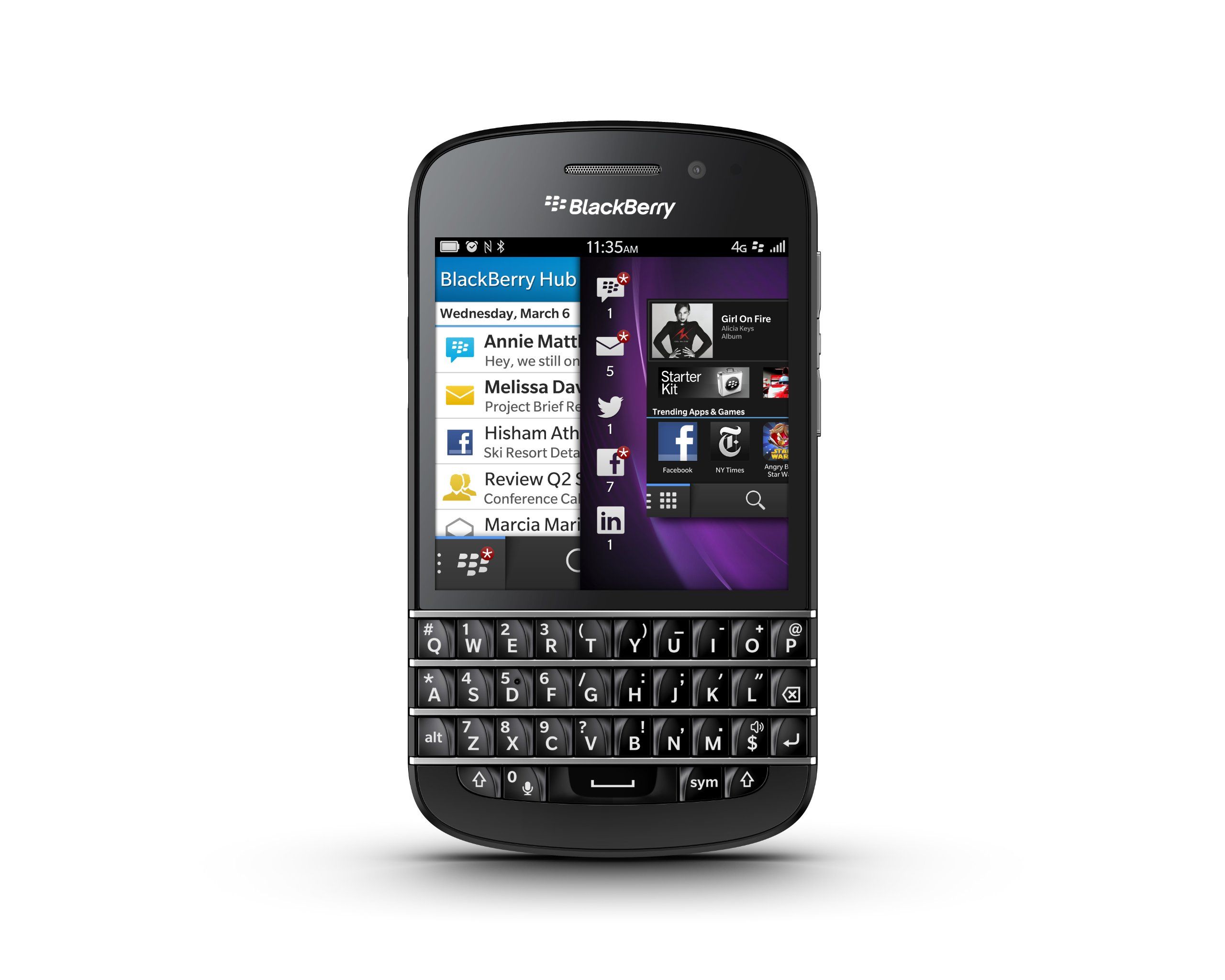 Blackberry Q10 SQN100-1 16GB 4G LTE Unlocked GSM Dual-Core OS 10 Smartphone - Black by BlackBerry