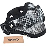 Mesh Half Face Skull Mask Striker Steel Airsoft Mask Tactical Lower Face mask