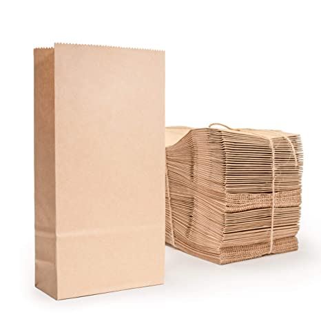 Amazon.com: Bolsa de papel kraft., S: Kitchen & Dining