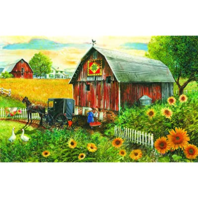 Country Paradise 300 pc Jigsaw Puzzle by SunsOut: Toys & Games