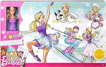 Barbie Calendrier de l'Avent fourni avec poupée blonde en tenue