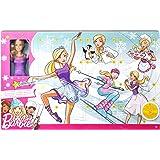Barbie FTF92 Adventskalender 2018, Spielzeug Weihnachtskalender mit Puppe im lila Kleid, 23 Accessoires und Moden