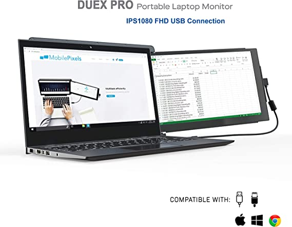Mobile Pixels Duex Pro Portable Monitor for Laptops 12.5