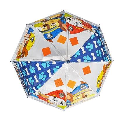 Patrulla Canina Diseño niños - Paraguas infantil, en forma de burbuja, transparente, manual