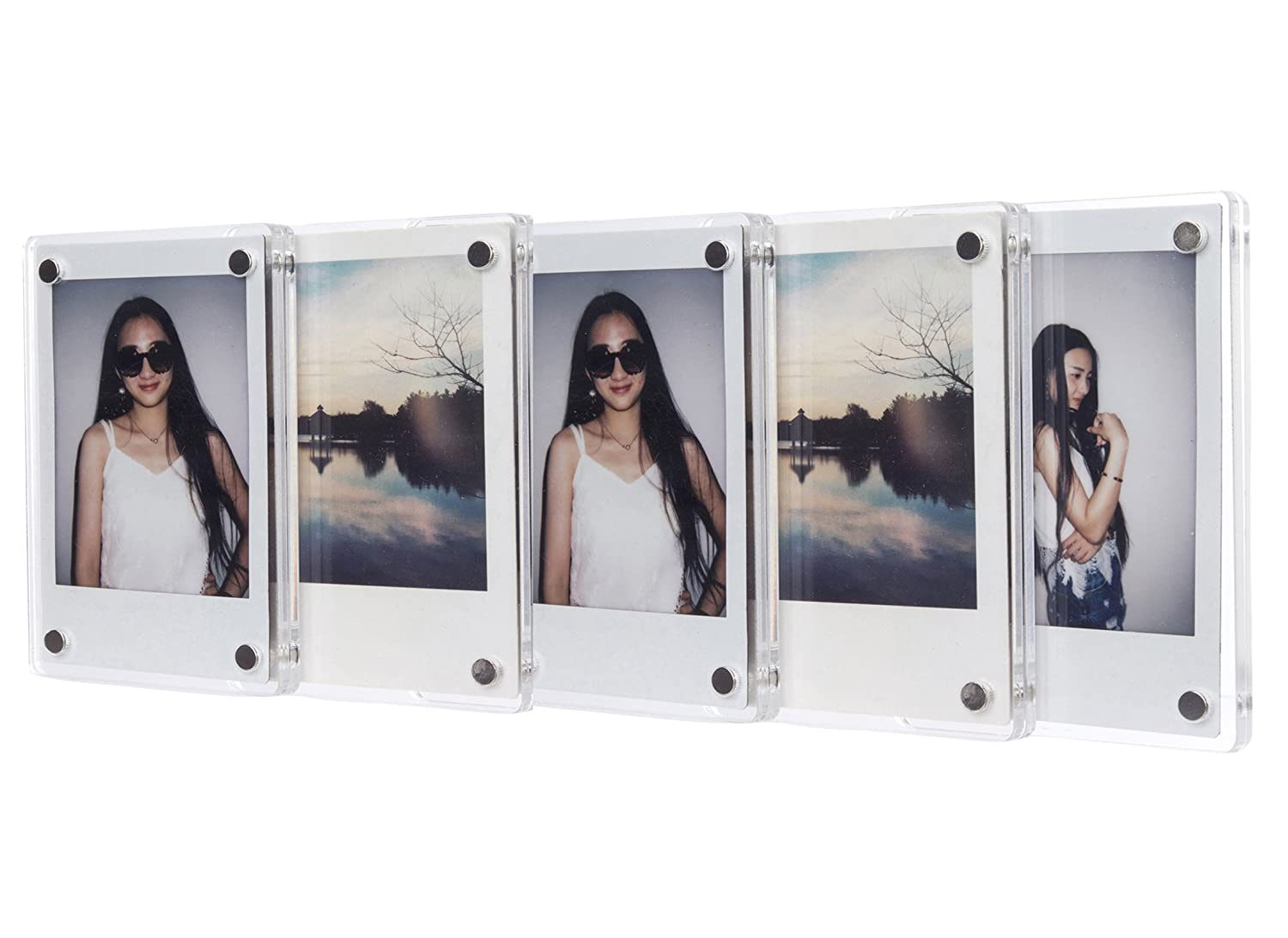 amazoncom fujifilm instax mini frame caiul clear acrylic fridge magnetic frame double sided photo magnet frame for instax mini 8 8 9 70 7s 90 25 26 - Mini Frame