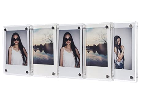 fujifilm instax mini frame caiul clear acrylic fridge magnetic frame double