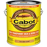 Cabot 140.0000316.007 Semi-Transparent Deck & Siding Stain, Gallon, New Cedar