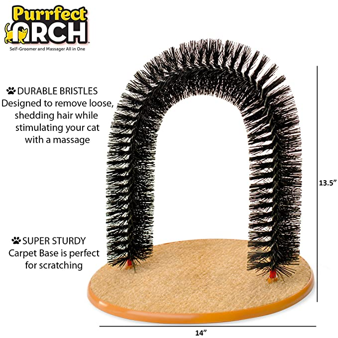 4266439569b Amazon.com : Purrfect Arch Self Grooming and Massaging Cat Toy- Reduce  Shedding & Scratching To Keep Your Home Fur Free! : Pet Supplies