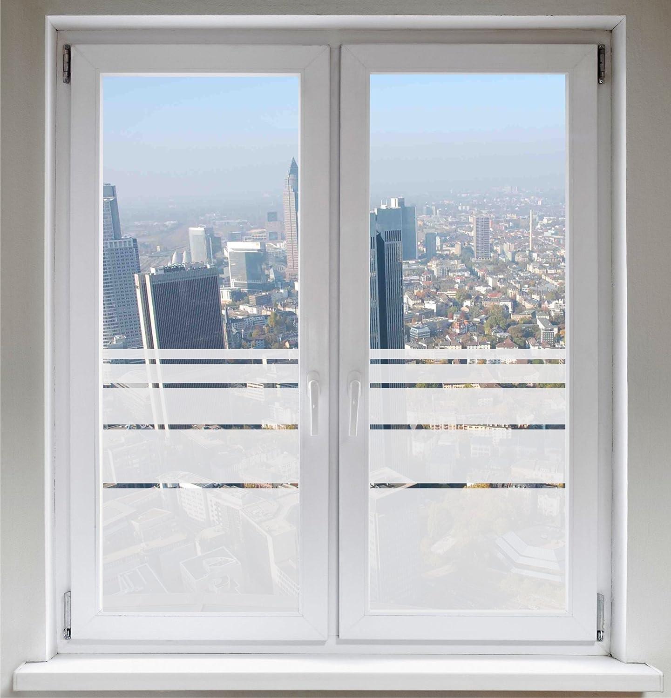 INDIGOS UG プライバシーフィルム窓用フィルムガラス装飾フィルム不透明な動的なストライプサテン ORACALR- 900mm 幅 x 500mm 高さ B01LEJE7KY