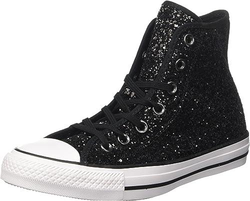 Converse Chuck Taylor CTAS Hi, Sneakers Basses Femme, Noir ...
