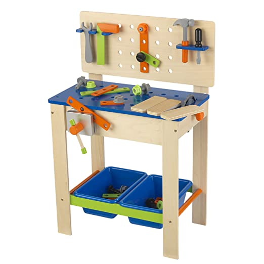 Fine Kidkraft Deluxe Workbench With Tools Frankydiablos Diy Chair Ideas Frankydiabloscom