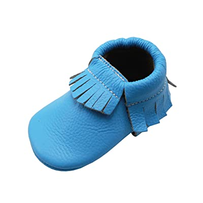 YIHAKIDS Chaussures Bébé Chaussons Cuir Souple Bébé Fille Garçon Frange Chaussures