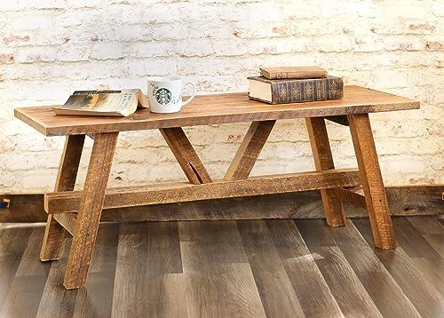 Scandinavian style reclaimed wood coffee table