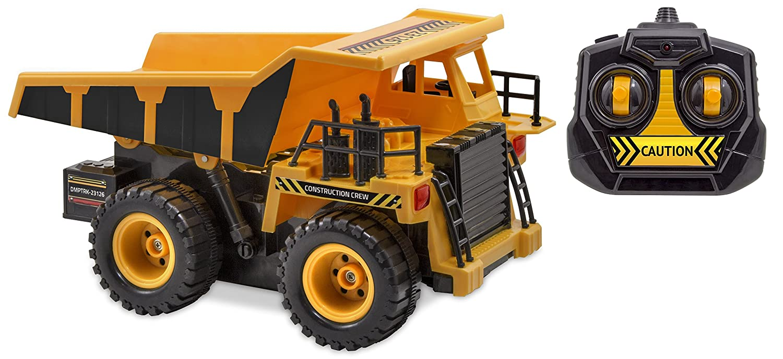 Kid Galaxy Remote Control Dump Truck. 6 Function RC Construction Toy Vehicle, 27 MHz by Kid Galaxy   B01BYAA4S2