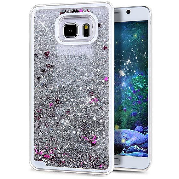 low priced 4f381 8df34 Liquid Case Samsung Galaxy S7(2016),Creative Design Bling Glitter Shiny  Quicksand Sparkle Stars and Flowing Liquid Transparent Plastic Case for ...