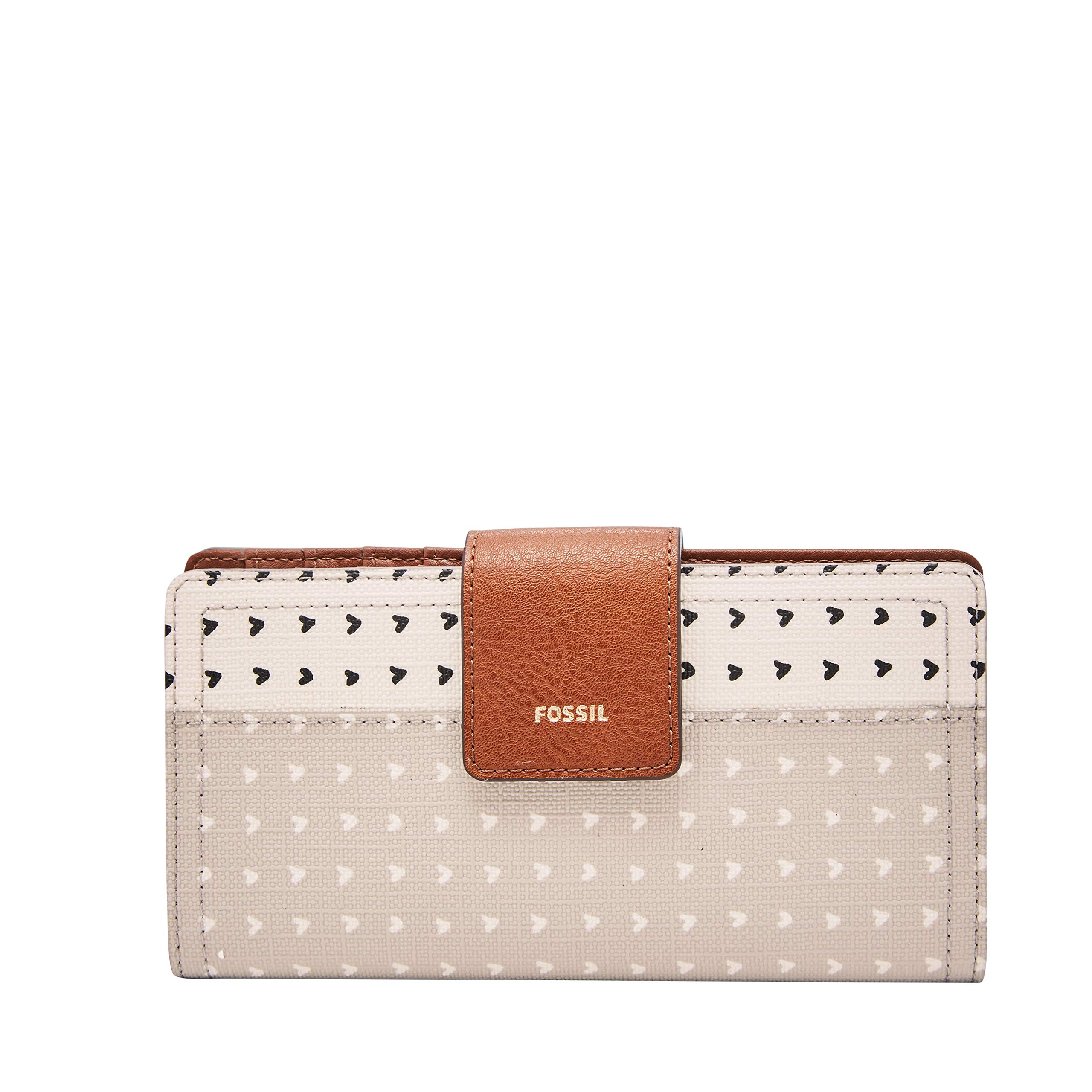 Fossil Logan RFID Tab Wallet, hearts by Fossil (Image #1)