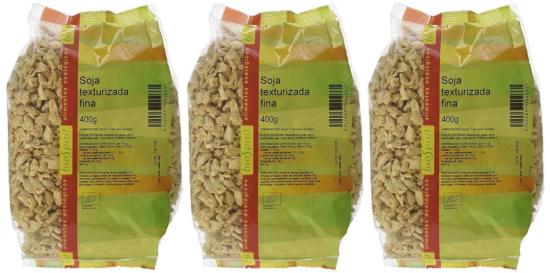 Biospirit Soja texturizada fina de cultivo ecológico- 400 gr: Amazon.es: Alimentación y bebidas