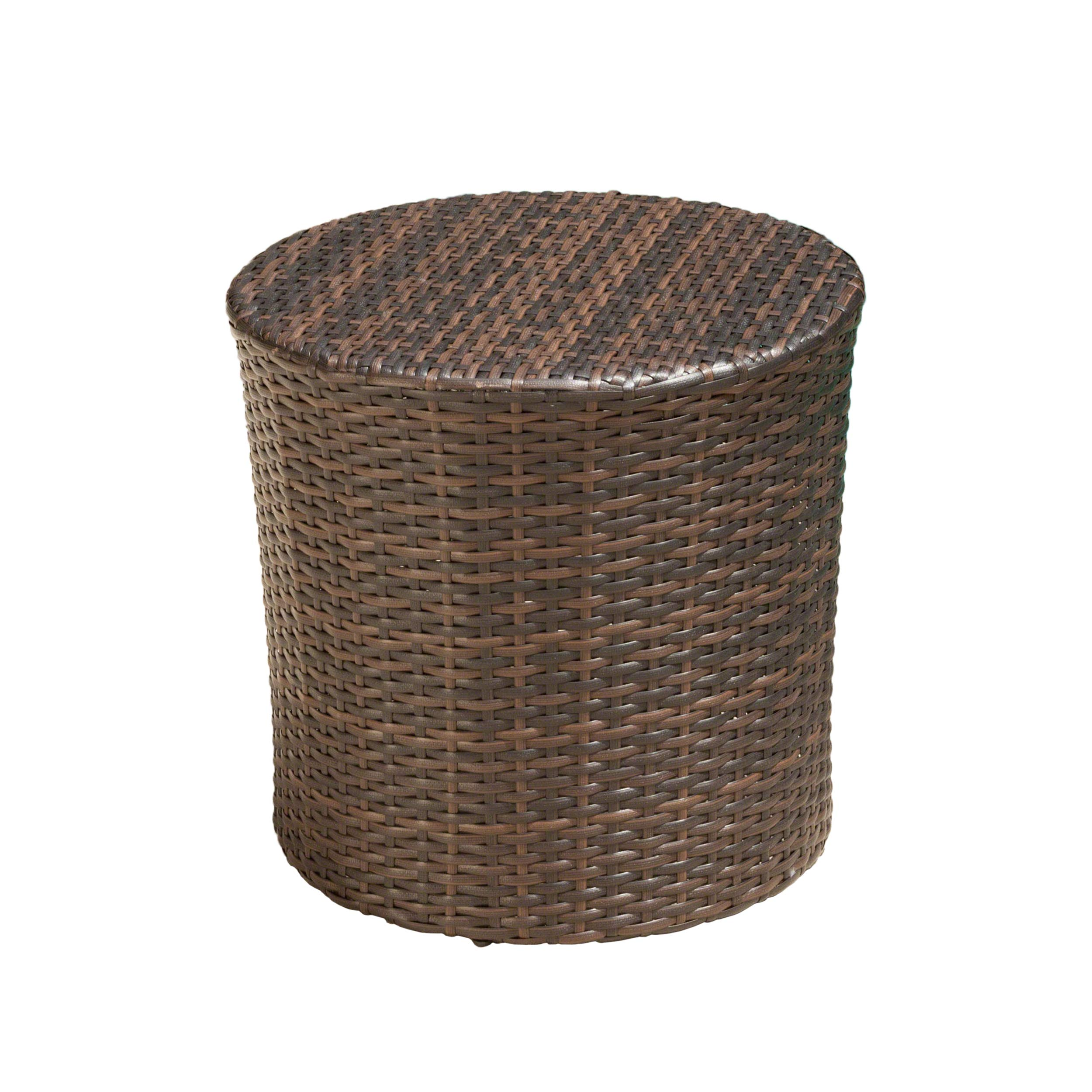 Christopher Knight Home 221495 Overton Outdoor Wicker Barrel Side Table, Brown by Christopher Knight Home