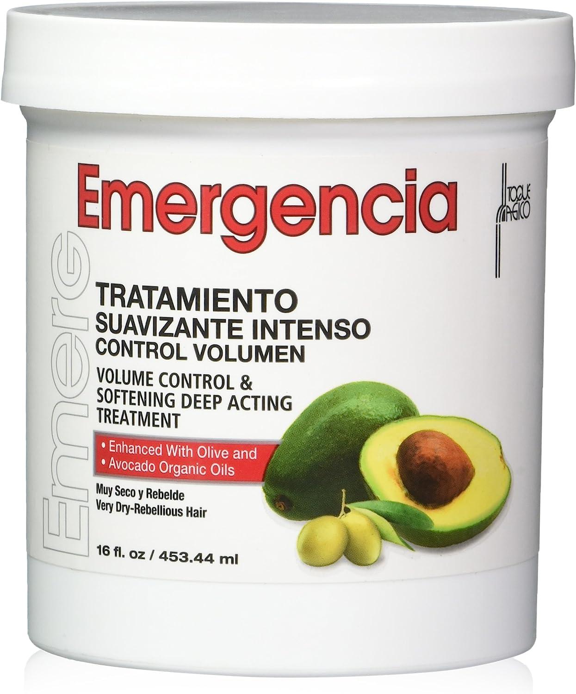Mascarilla Capilar Emergencia De Aguacate Y Aceite De Oliva 453ML- Control De Volumen Y Tratamiento Suavizante De Acción Profunda Mejorado Para Cabello Muy Seco Y Rebelde